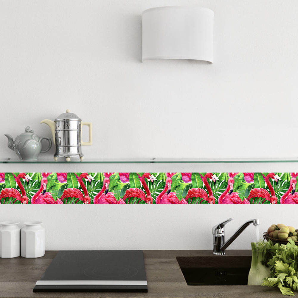 funlife flamingo tropical wallpaper borders,creative wall bordermouse over to zoom in funlife flamingo tropical wallpaper borders,creative