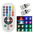 wupp 2 x T10 194 168 W5W car wedge light 12 LED colors Bulb With Remote Flash