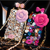 Luxury With LOGO Chain 3D Diamond Phone Case Rhinestone Bling Cover Fundas Para For IPhone 6s