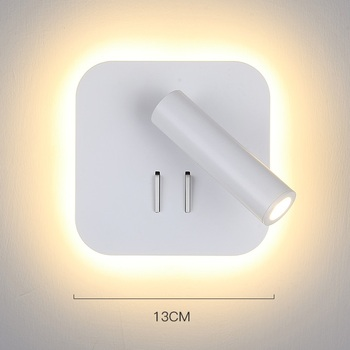 Mode Bedroon Wandlamp Land Iron LED Wall Lampen Aluminium Blaker Lampen Naast Trap Verlichting Badkamer Arandels