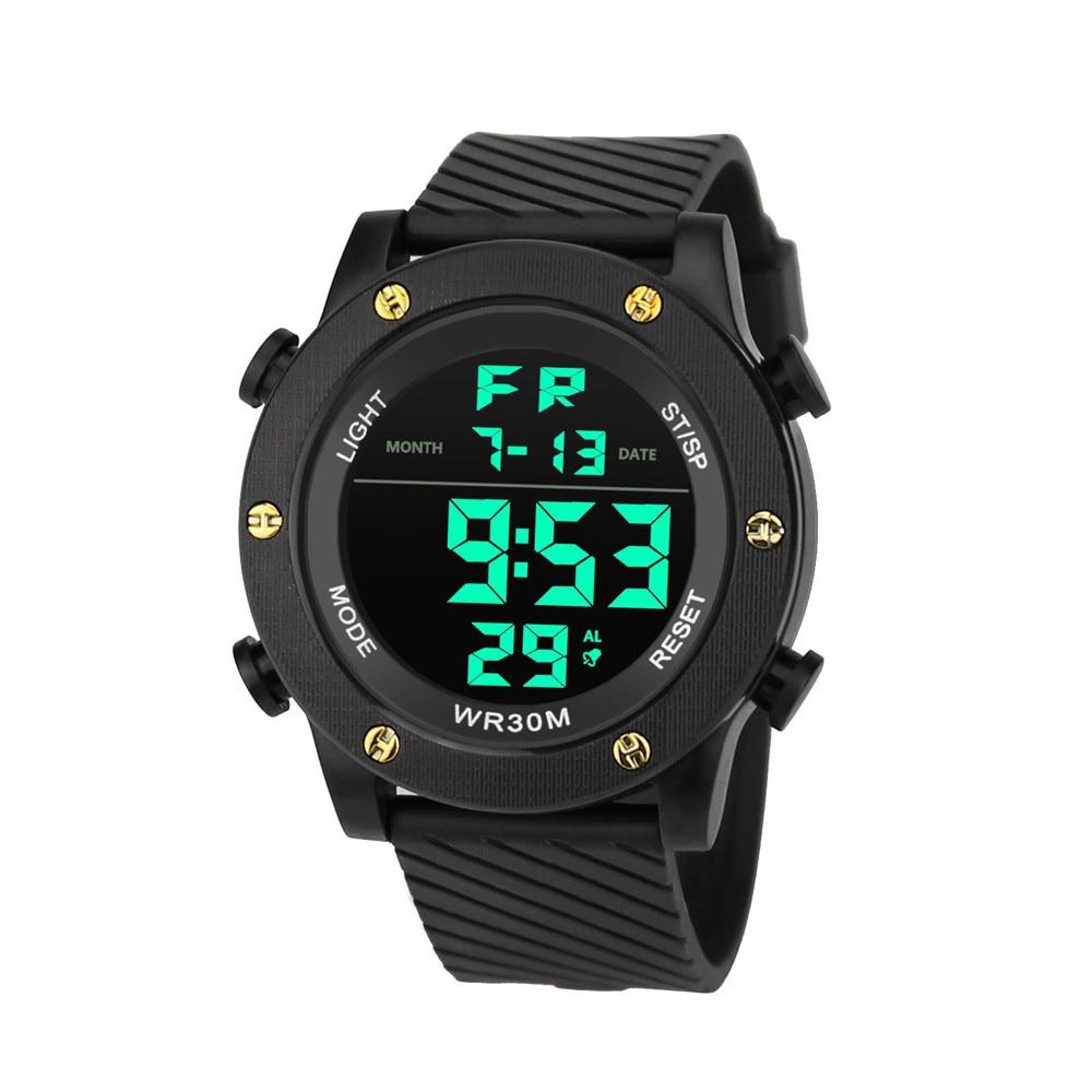 Analog Digital Military Army Sport LED Waterproof Wristwatch Erkek Kol Saati #Y