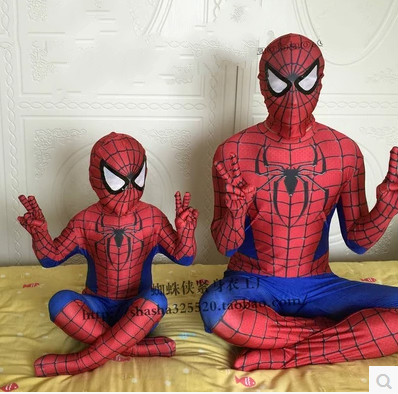 ФОТО Superpowered clothes adult cospal straitest set Spiderman Superman suit children's clothing