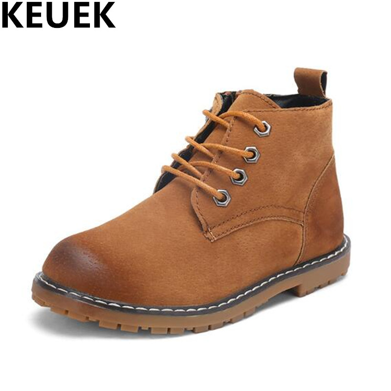 NEW Spring/Autumn Children Shoes Boys Girls PU Leather Ankle Boots Student Breathable Motorcycle Boots Kids Martin Boots 044 2016 new fashion children martin boots girls boys winter shoes kids rain boots pu leather kids sneakers waterproof anti skid