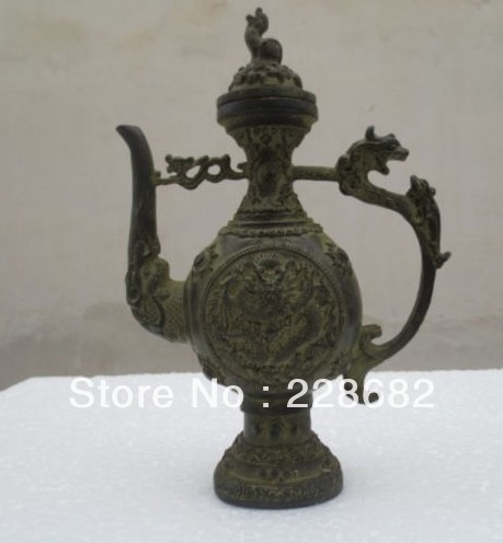 christmas decorations for home+ Rare china Old bronze Hand Dragon Tea pot /flagon   free shipingchristmas decorations for home+ Rare china Old bronze Hand Dragon Tea pot /flagon   free shiping
