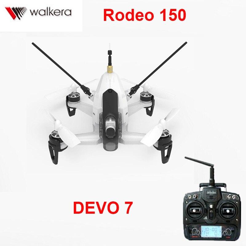D'origine Walkera Rodeo 150 quadcopter avec DEVO 7 émetteur 5.8g 40CH avec 600TVL Nuit Caméra 3D Voltige Mini FPV racer RTF