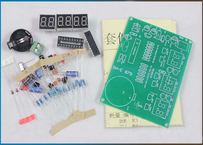 DIY Kits 9V-12V AT89C2051 6 Digital Tube LED Electronic Clock