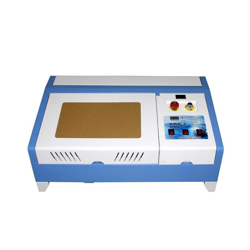 Machine de gravure Laser de bureau 3020 40 W/3020PRO 50 W CO2 avec fonction numérique/système hors ligne et Table en nid d'abeille haute vitesse