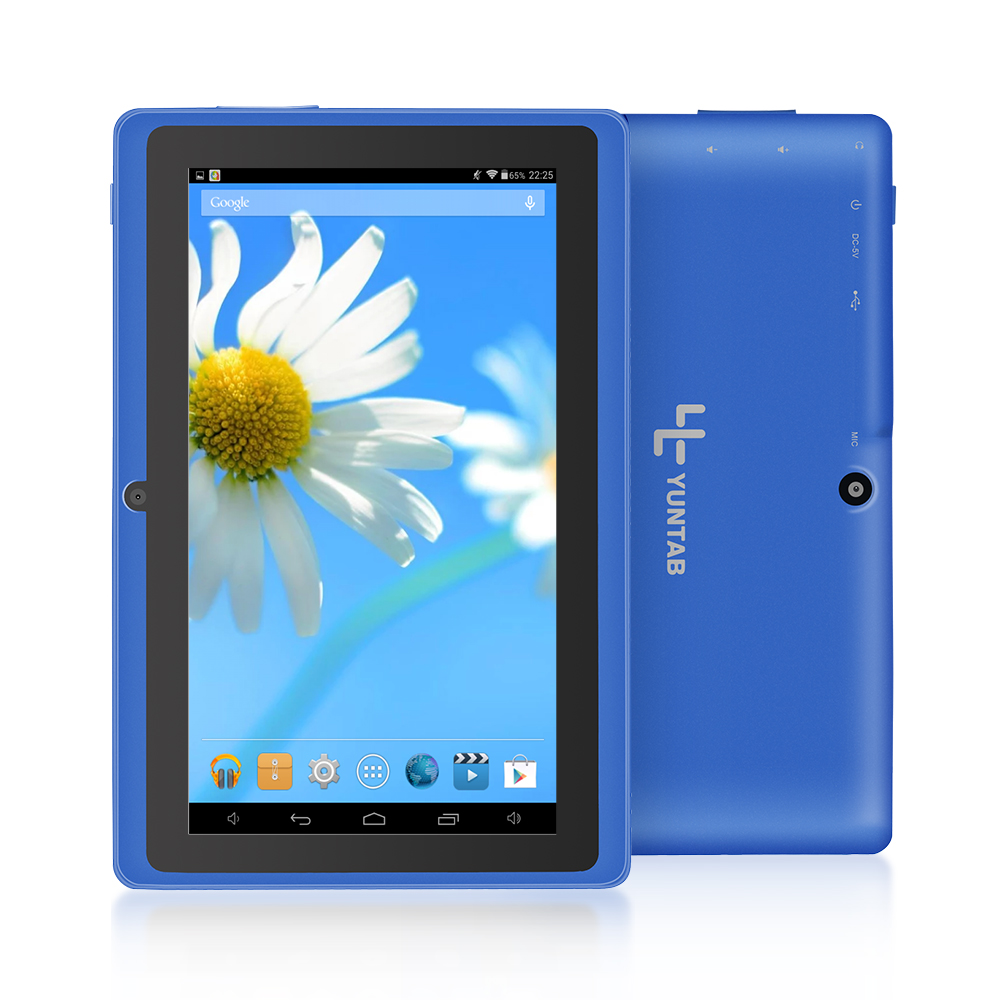цена Yuntab 7 inch Quad core Q88 1.5GHz android 4.4 tablet pc allwinner A33 512M 8GB ROM Capacitive Screen Dual cam WIFI