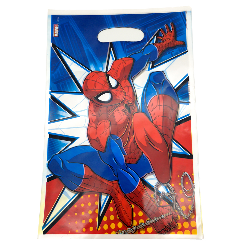 10PCS/PACK Decoration Happy Birthday Party Baby Shower Food Gifts Bags Kids Boys Favors Spiderman Theme Plastic Loot Bags10PCS/PACK Decoration Happy Birthday Party Baby Shower Food Gifts Bags Kids Boys Favors Spiderman Theme Plastic Loot Bags
