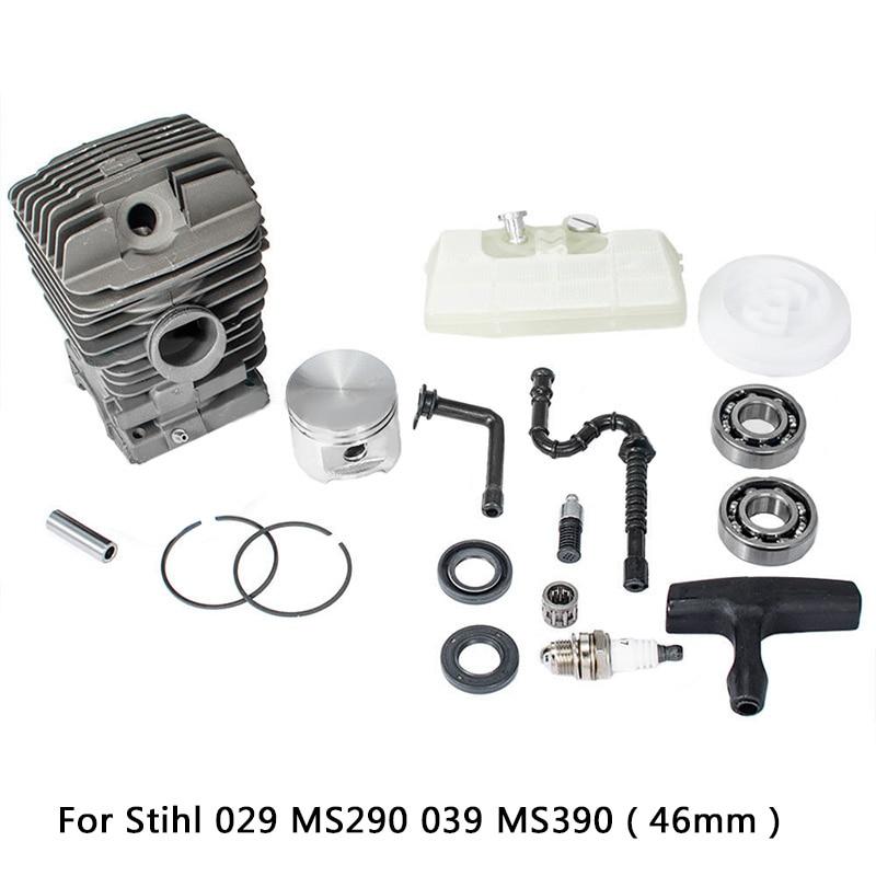 46mm- Cylinder Piston Oil Seal Gasket Bearings Kit for Stihl MS290 039 MS390 etc все цены