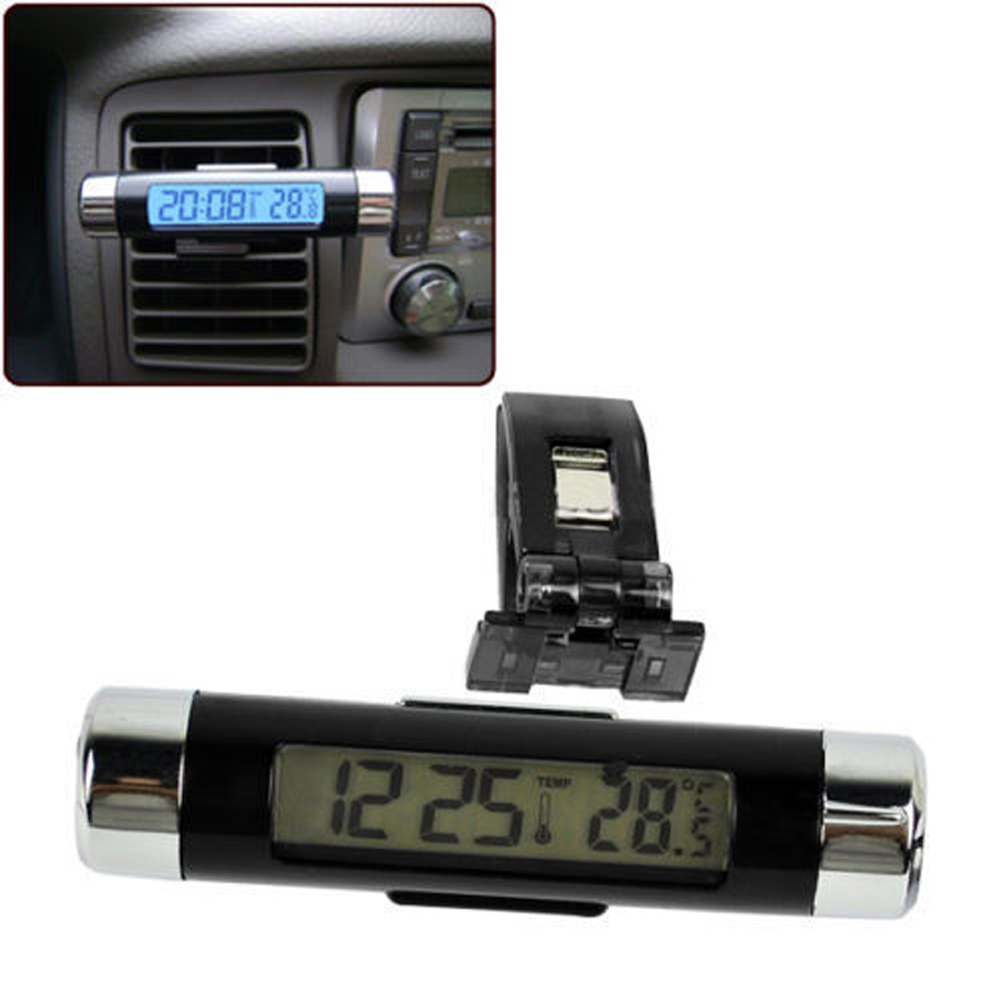 High Quality Car Digital display with backlight Electronic watch Car Electronic Clock Thermometer Interior Temperature LCD