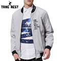 TANGNEST Four Colors Stand Collar Letter Casual Outwearing Jacket Zipper High Quality Cool Fashion Male Jackets MWJ2035
