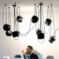 Nordic небольшой Барабаны Droplight белый/черный современные промышленные Открытый Подвесные Светильники светильник домой Освещение в помещении