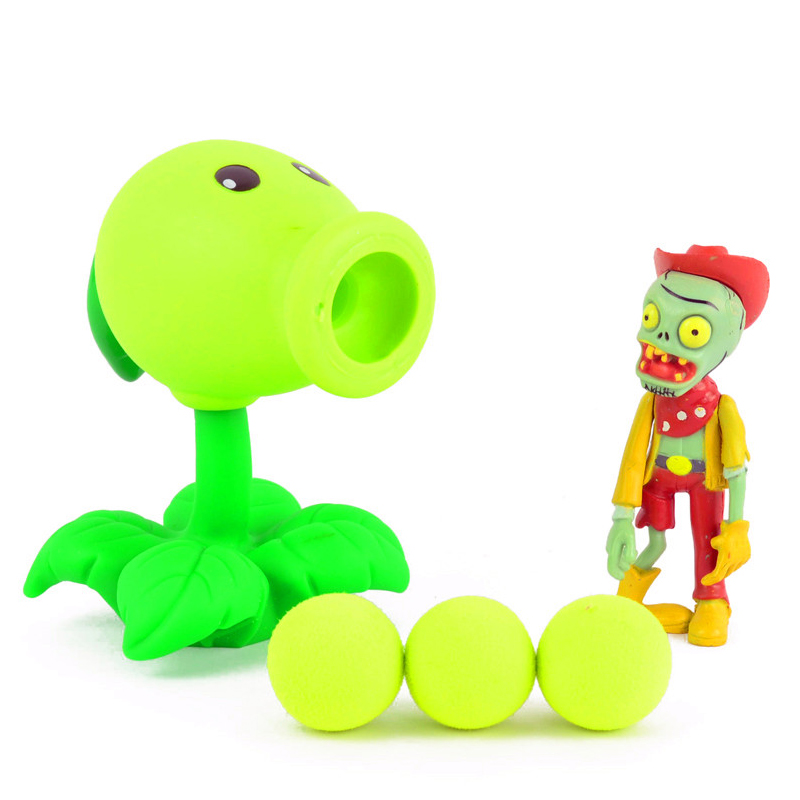 Freeshipping PVZ Plants vs Zombies Sets Peashooter Popper Action Figure Model Toy For Fans Children Gift 3 8cm plants vs zombies action figure toy pvc plants vs zombies figure model toys for children collective brinquedos