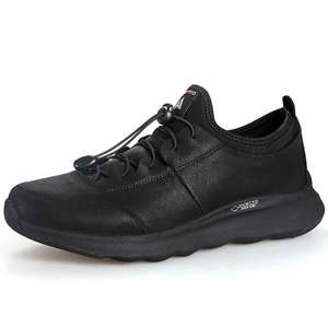 Image 2 - HUMTTO Laufschuhe für Männer Im Freien Atmungsaktive Lace up Jogging Schuhe Kuh Split + Stoff Lebensstil Zu Fuß Turnschuhe