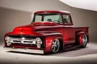 Cool 1956 F100 Pickup Street Rod Hot USA Truck Car KD125 Living Room Home Wall Art