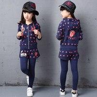 Girls child set autumn child 2016 girl outerwear trousers child twinset girls clothing set