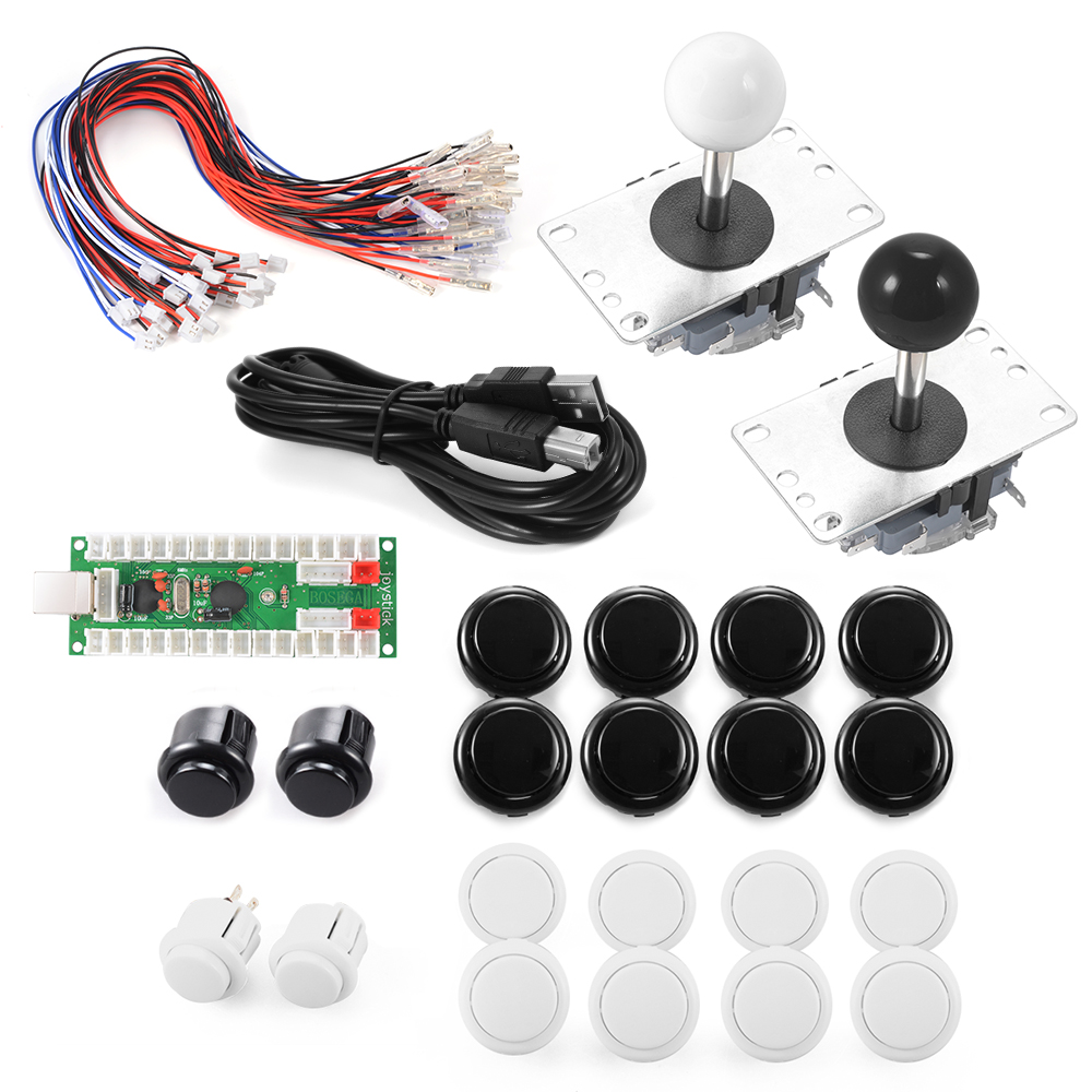 No Delay Arcade Game Controller USB Joystick for MAME Raspberry 2 Players AC491