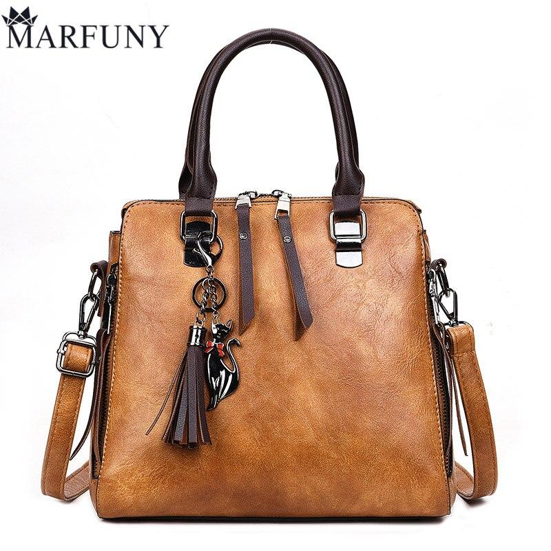 MARFUNY Brand Women Bag Fashion Tassel Tote Bag Handbag Female Crossbody Bags For Women Soft Pu Leather Handbags Ladies Tote Sac