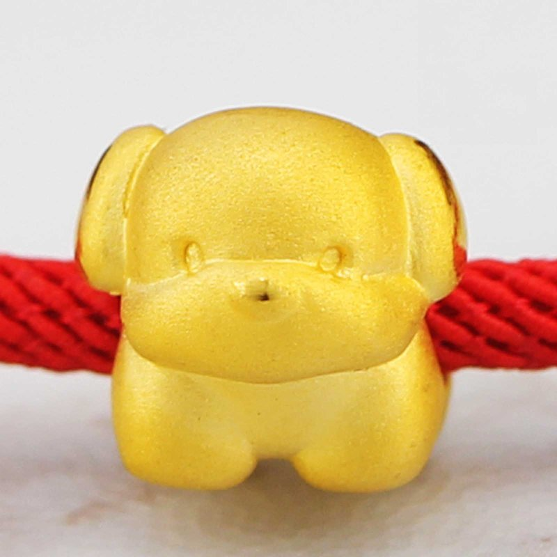 Real 999 24k Yellow Gold Pendant 3D Women Lovely Dog Only Pendant 10x12mmReal 999 24k Yellow Gold Pendant 3D Women Lovely Dog Only Pendant 10x12mm