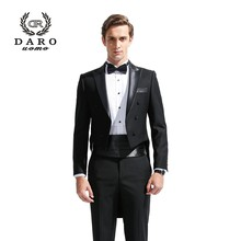 2019 New Men's Fashion Formal Dress Blazer Tuxedo Suit Male Suit Set Morality Business Wedding Suits DARO8880(China)
