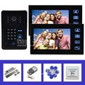 DIYSECUR 7 Inch Video Door Phone Intercom System IR Password Keypad RFID Reader Waterproof Cover Camera Electric Bolt Lock