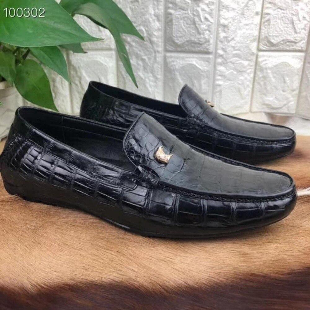 Cocodrilo Negro Hombres Diseño Del Durable Zapatos Negocios Mate Sólido Nuevo Color Genuino Caliente Piel Vestido De Vientre qCnwntFZd