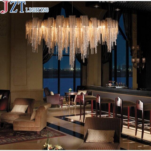 m modernen europaischen stil aluminium fransen villa verbindung wohnzimmer atmosphare luxus hotel lobby kristall quasten lampe