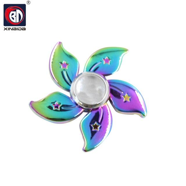 Rainbow Fid Spinners Metal Tri spinner EDC Hand Finger Spinner