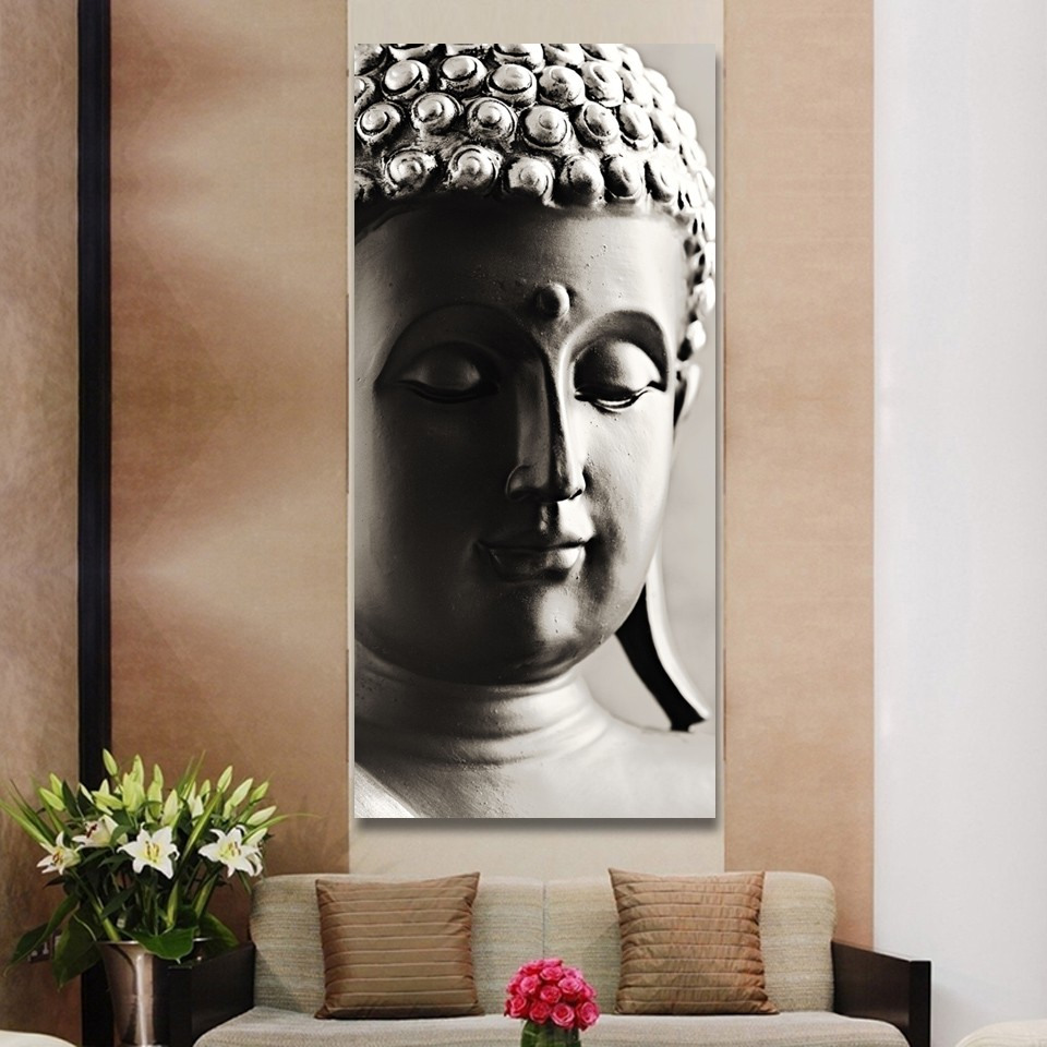 New Abstract Printed Hotoke Buddhism Religion Buddha Painting Picture Cuadros Decor Buda Canvas Art For Bed Room No framed