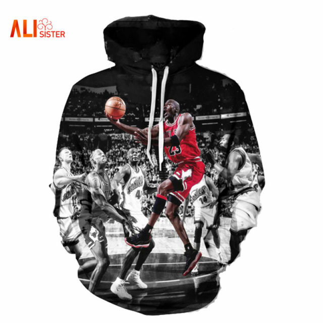 Alisister Fashion Jordan Hoodies Men 3d Print Painting Sweatshirt