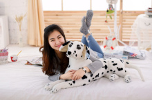 big lovely simulaiton spots dog toy plush lying spot dog doll gift about 70cm