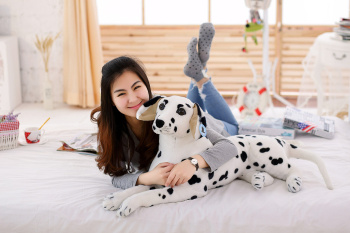 big lovely simulaiton spots dog toy plush lying spot dog doll gift about 70cm 1841