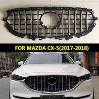 Подходит для MAZDA CX 5 CX5 2017 18 внешние аксессуары GRILLHIGH качество Передняя гонки решетка сетки подножку Маска Крышка грили