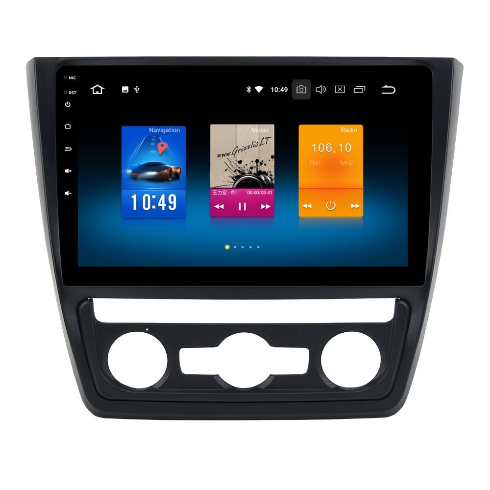Système multimédia de voiture RoverOne Android 8.0 pour Skoda Yeti 2014 Octa Core 4G + 32G Radio GPS Navigation lecteur multimédia PhoneLink