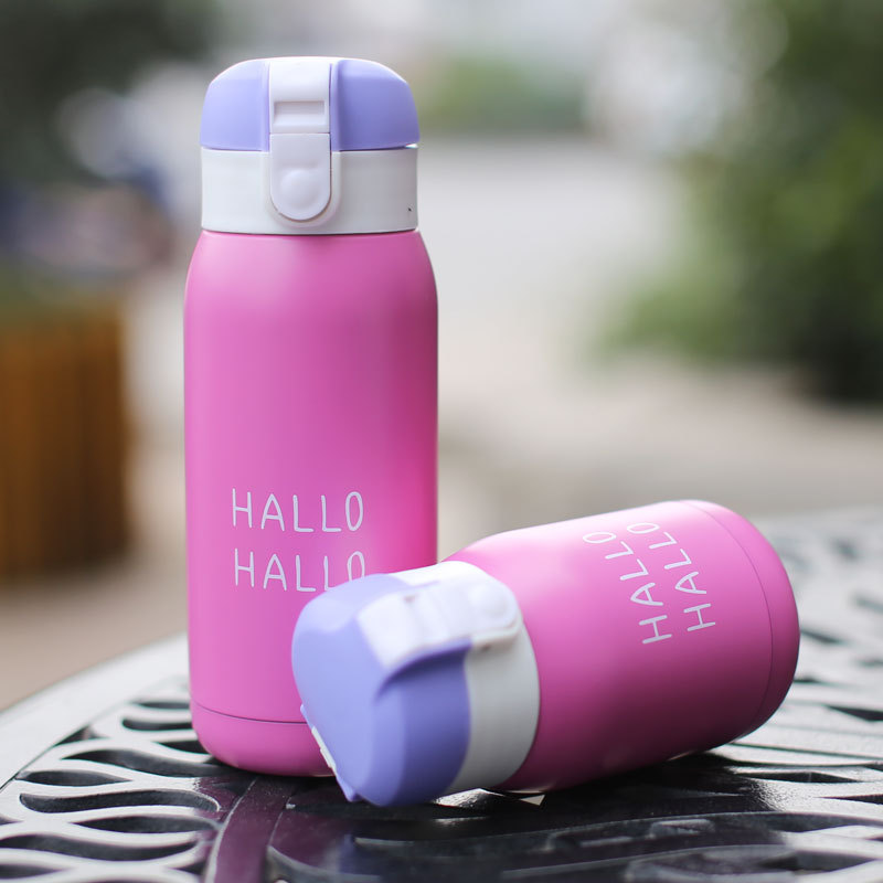 200ml and 360ml Mini Thermal Flask in Cute Candy Pattern for Heat Preservation Suitable for School Kids 3