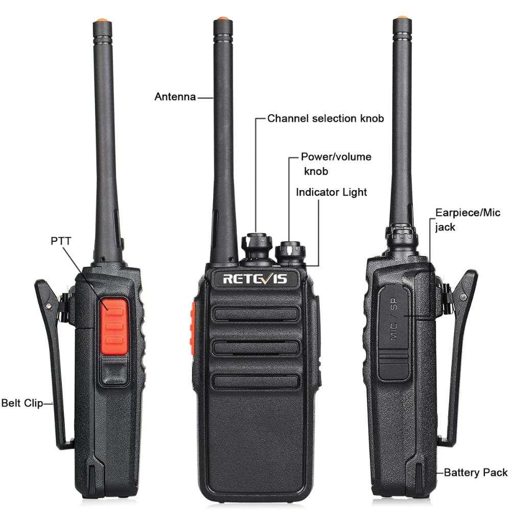 Image 4 - 2pcs Retevis H777S Walkie Talkie Radio 2W FRS UHF Radio Station VOX Scan Two Way Radio Portable HF Transceiver-in Walkie Talkie from Cellphones & Telecommunications