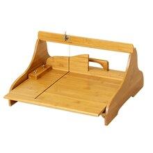 Большой бамбуковый мыльный Резак Регулируемый домашний буханка Мыло инструмент для изготовления
