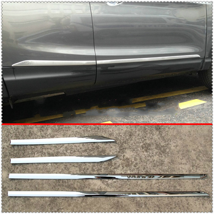 ACCESSORIES FIT FOR 2014 2015 2016 2017 2018 NISSAN QASHQAI CHROME ABS DOOR SIDE LINE GARNISH BODY MOLDING COVER PROTECTOR TRIM