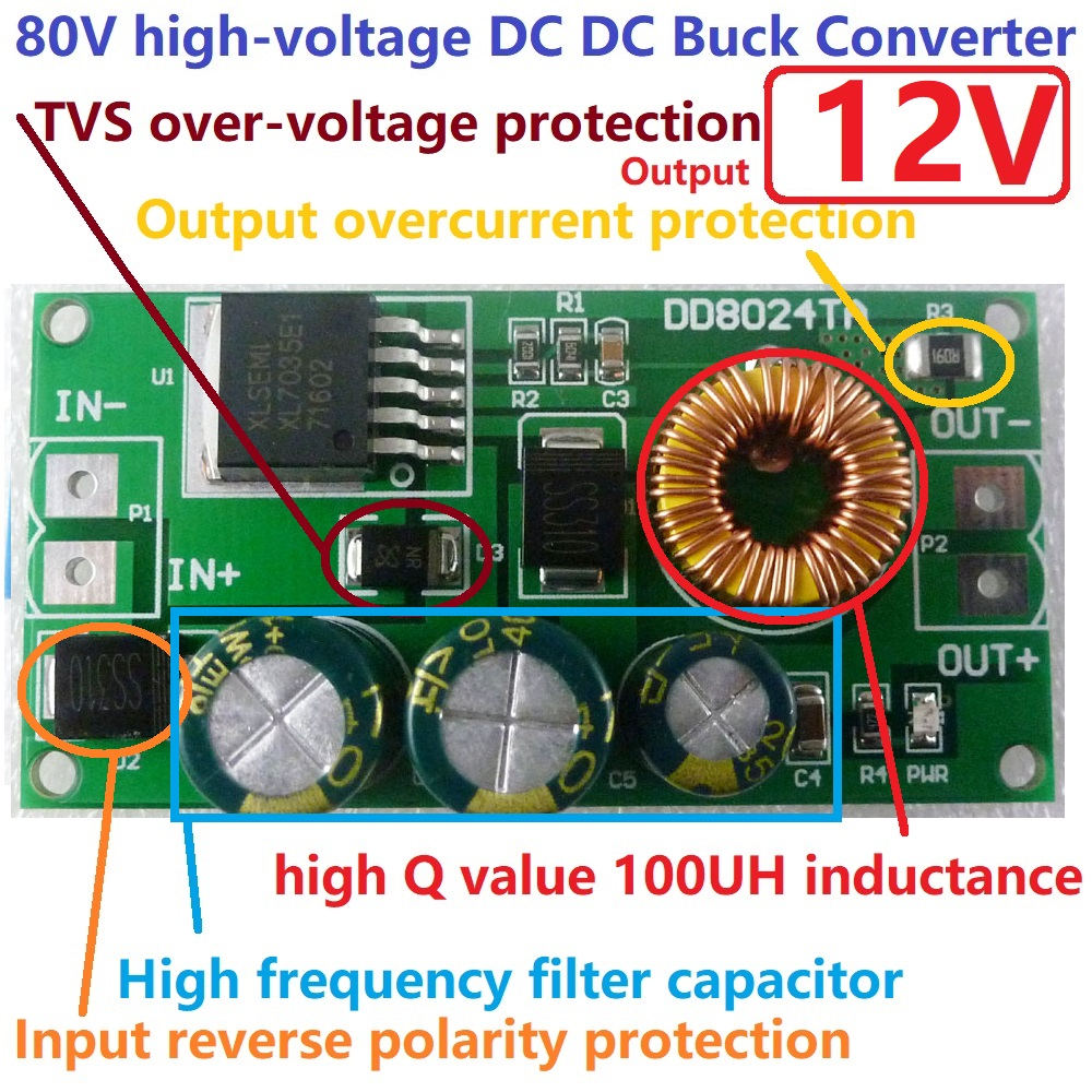 400W DC-DC Step-up Boost Converter Constant Current Power Supply Module 9O8 15X