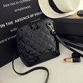 Shell moda Pequenas Bolsas de Alta Qualidade Bolsa de Embreagem Das Mulheres Do Partido Das Senhoras da Manta Acolchoada Famosos sacos de Ombro Do Mensageiro Sacos Crossbody