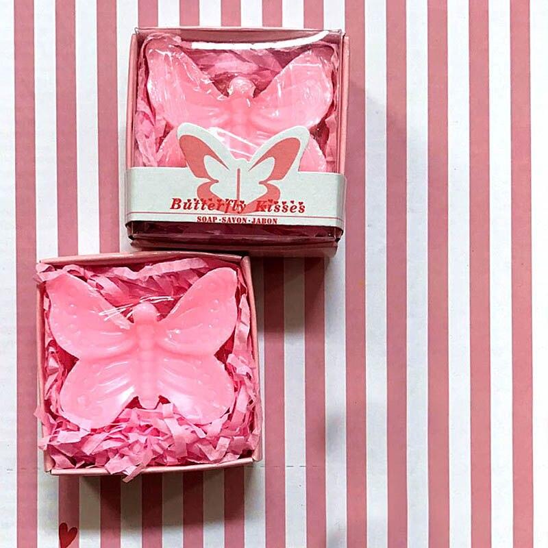 20 шт./лот мини-мыло ручной работы с ароматом для сувенир для свадебной вечеринки и детского душа подарок Свадебные сувениры Мыло для купания - Цвет: pink butterfly