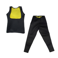 Vrouwen Hot Zweet Neopreen Body Shaper Vest Vetverbranding Gewichtsverlies Shirt + Broek Body Shaper Afslanken Pant
