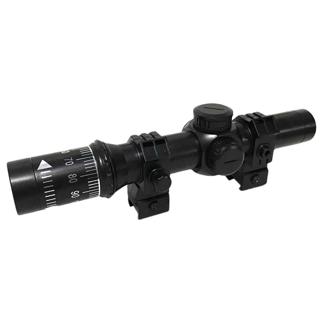 NFSTRIKE Réglable 8-Fois Portée Pour Billes De Gel De L'eau Blaster Avec 21mm Guide Rail Modification Remplacement-Noir