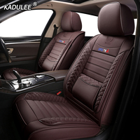KADULEE Leather car seat cover For mercedes benz w204 w211 w210 w124 w212 w202 w245 w163 cla gls gla glc A/B/C/E class car seats