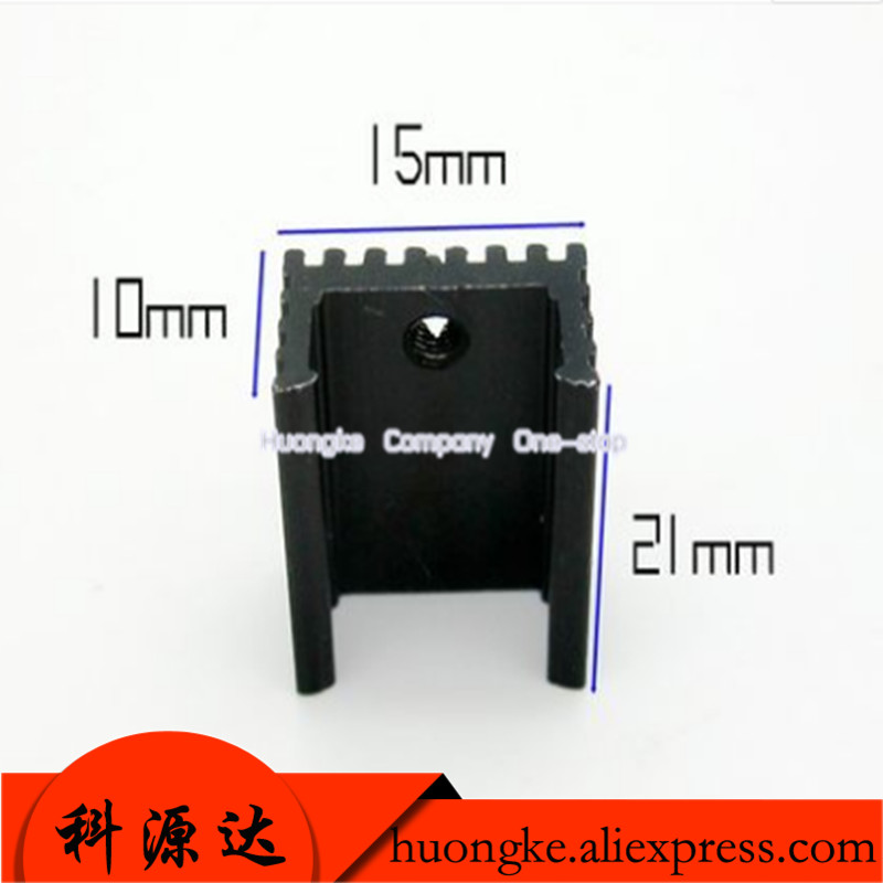 2pcs/lot U Type 21*15*10mm Transistor To-220 Package Radiator With Screws Professional Design