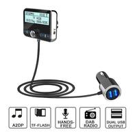 Car mp3 player Dual usb Hands free FM Tuner Radio Car Bluetooth 4.2 Transmitter Modulator Adapter FM DAV/DAB Tuner Broadcasting
