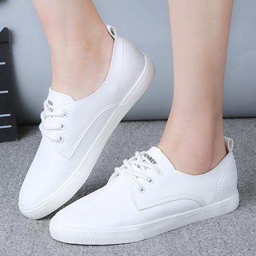 Nuevas Mujeres de Cuero Calzado Casual Zapatos de Cuero Para Mujer Zapatos Plan