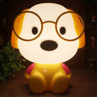 new year gifts cute dog night light cartoon table lamp for kids bedside white light desk lamp puppy with glass kids lamp Dr dog