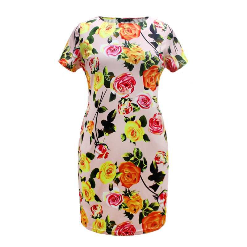 HTB1dYfYXhHBK1JjSZFkq6zg9VXaZ 2019 Autumn Plus Size Dress Europe Female Fashion Printing Large Sizes Pencil Midi Dress Women's Big Size Clothing 6XL Vestidos